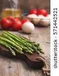 ingredients for cooking healthy ... | Shutterstock . vector #571442521