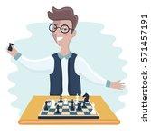 vector illustration of funny... | Shutterstock .eps vector #571457191
