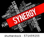 synergy word cloud collage ... | Shutterstock .eps vector #571459255