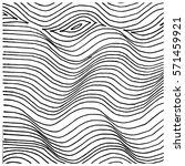 lines patten  hand drawn vector ... | Shutterstock .eps vector #571459921