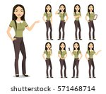 Vector Image Of A Young Woman...