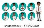african american business man... | Shutterstock .eps vector #571470835
