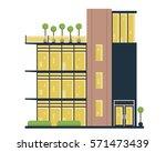 modern flat commercial office... | Shutterstock .eps vector #571473439