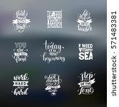 set of handwritten lettering... | Shutterstock .eps vector #571483381
