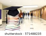 very blurry college hall as... | Shutterstock . vector #571488235