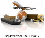 types of transport of... | Shutterstock . vector #57149017