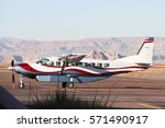 Small Private Plane Lands On A...