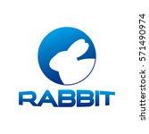 rabbit logotype style | Shutterstock .eps vector #571490974