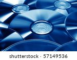 CDs DVDs - stock photo