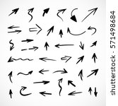 hand drawn arrows  vector set | Shutterstock .eps vector #571498684
