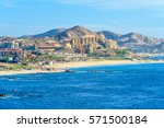 mexico coastline with beautiful ... | Shutterstock . vector #571500184