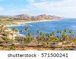 mexico coastline with beautiful ... | Shutterstock . vector #571500241