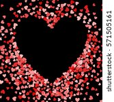 red frame of scatter confetti... | Shutterstock .eps vector #571505161