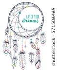 bohemian ethnic dream catcher... | Shutterstock .eps vector #571506469