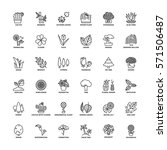 outline icons set. flat symbols ...   Shutterstock .eps vector #571506487