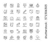 outline icons set. flat symbols ...