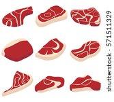 steak  steak icon  meat  piece... | Shutterstock .eps vector #571511329