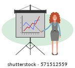 business woman giving a... | Shutterstock .eps vector #571512559