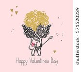 little cupid | Shutterstock .eps vector #571520239