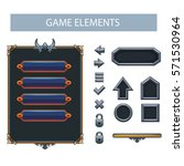 vector panel  buttons for game...