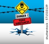 danger plate with the text... | Shutterstock .eps vector #571533139