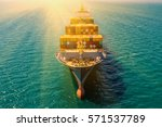 container container ship in... | Shutterstock . vector #571537789