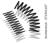 monochrome icon with springs | Shutterstock .eps vector #571541107