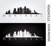 montreal skyline and landmarks... | Shutterstock .eps vector #571542904