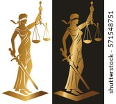 justice goddess themis  lady... | Shutterstock .eps vector #571548751