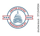 Stock vector united states capitol building icon in washington dc vector illustration 571549504