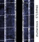 old film strip with some spots | Shutterstock . vector #57154960