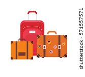 tourist elements design. vector ... | Shutterstock .eps vector #571557571