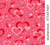 romantic seamless pattern with... | Shutterstock .eps vector #571557607