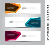 vector design banner background. | Shutterstock .eps vector #571559755