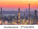 oil and gas industry refinery... | Shutterstock . vector #571561894