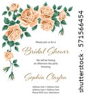 bridal shower or wedding... | Shutterstock .eps vector #571566454