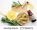 preparing homemade skincare... | Shutterstock . vector #571568611