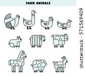 Farm Animals For Info Graphics...