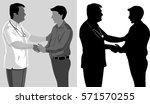 doctor with patient silhouette | Shutterstock .eps vector #571570255