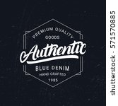 authentic hand written... | Shutterstock .eps vector #571570885