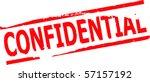 confidential stamp vector... | Shutterstock .eps vector #57157192