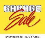 garage sale sign vector... | Shutterstock .eps vector #57157258