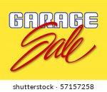 garage sale sign vector... | Shutterstock .eps vector #57157258