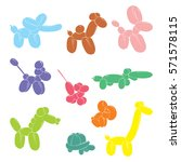 balloon animals icon   dog ...   Shutterstock .eps vector #571578115
