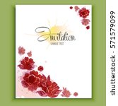 retro flower banner  vector ... | Shutterstock .eps vector #571579099