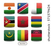 africa flags square buttons.   Shutterstock .eps vector #571579624