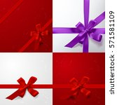 color vector gift box  bows and ... | Shutterstock .eps vector #571581109
