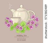 Cup Of Malva  Tea With Teapot...
