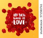 valentine s border card design... | Shutterstock .eps vector #571583761