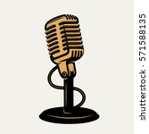 Vintage Microphone Icon...